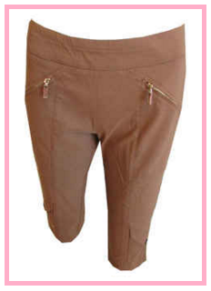Jamie Sadock Romance & Brown Sugar golf capri