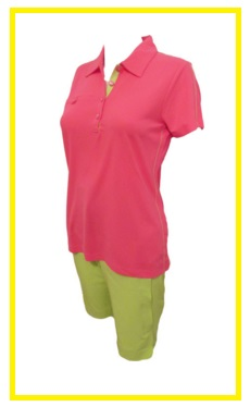 EP Pro Bellini golf outfit - solid golf shirt and golf short
