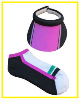 EP Pro Notting Hill Golf combo - golf visor and golf sock