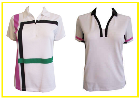 EP Pro Notting Hill white sleeved golf shirts