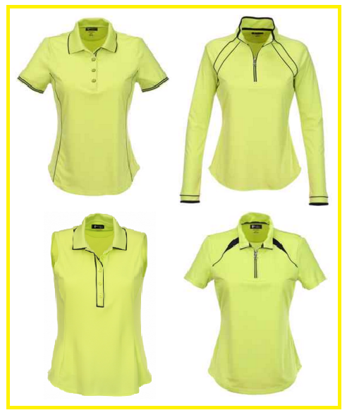 Greg Norman Key Largo ladies golf shirts in Apple Green