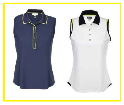 Greg Norman Key Largo ladies sleeveless golf shirts