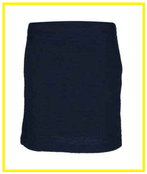 Greg Norman Ladies Crinkle Knit Pull-on Golf Skorts - Key Largo (Navy)