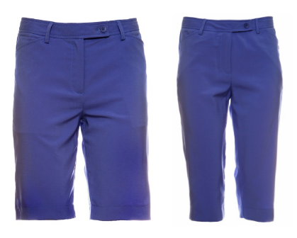 Cracked Wheat Ladies & Plus Size Victoria Golf Shorts and Allison Golf Capris - Uptown Girl (Periwinkle)