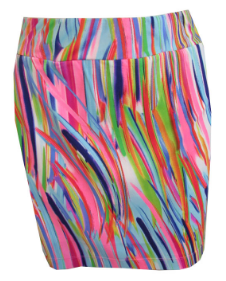 EP Sport Ladies Pull On Musical Golf Skorts - Coachella (High Voltage Pink Multi)