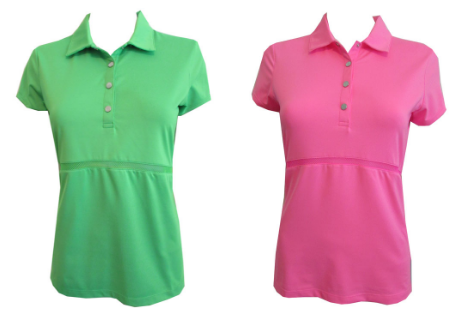 EP Sport Ladies Short Sleeve Grammy Golf Shirts - Coachella (Outta Lime and High Voltage Pink Multi)