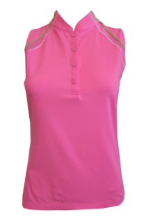 EP Sport Ladies Sleeveless Butterfly Golf Shirts - Coachella (High Voltage Pink Multi)