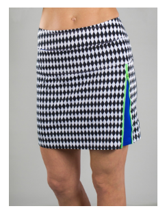 JoFit Ladies & Plus Size Zippy Pull-On Golf Skorts - Melon Ball (Harlequin)