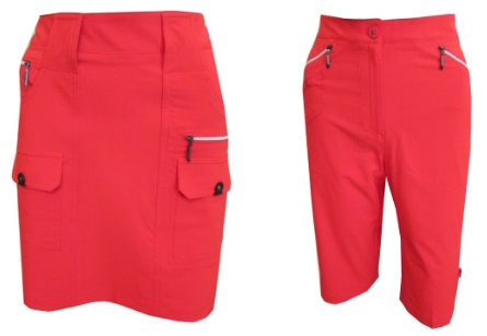 Jamie Sadock Ladies Golf Skort and capri - Firework