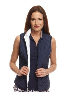Golftini Ladies Reversible Wind Vests - Navy/White