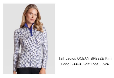 Tail Ladies Ocean Breeze Kim Long Sleeve Golf Top