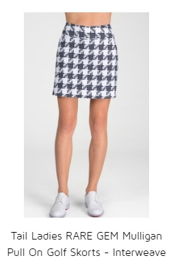 Tail Ladies RARE GEM Mulligan Pull On Golf Skorts - Interweave