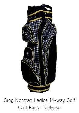 Greg Norman Ladies 14-way Golf Cart Bags - Calypso