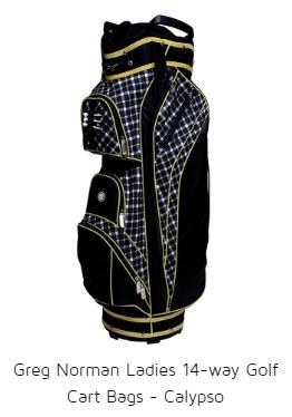Greg Norman Ladies 14-way Golf Cart Bags - Calypso