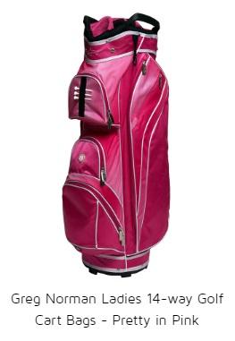 Greg Norman Ladies 14-way Golf Cart Bags - Pretty in Pink