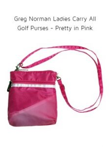 Greg Norman Ladies Carry All Golf Purses - Pretty in Pink