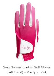 Greg Norman Ladies Golf Gloves (Left Hand) - Pretty in Pink