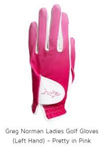Greg Norman Ladies Golf Gloves (Left Hand) - Pretty in Pink