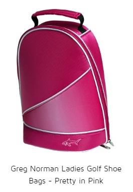 Greg Norman Ladies Golf Shoe Bags - Pretty in Pink