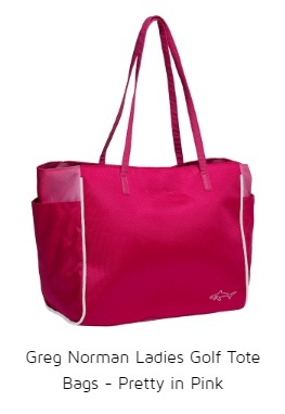 Greg Norman Ladies Golf Tote Bags - Pretty in Pink