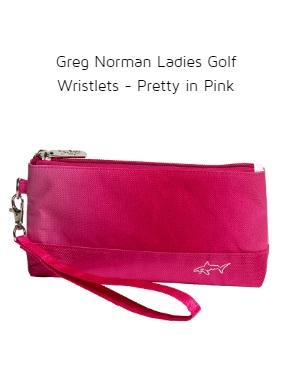 Greg Norman Ladies Golf Wristlets - Pretty in Pink