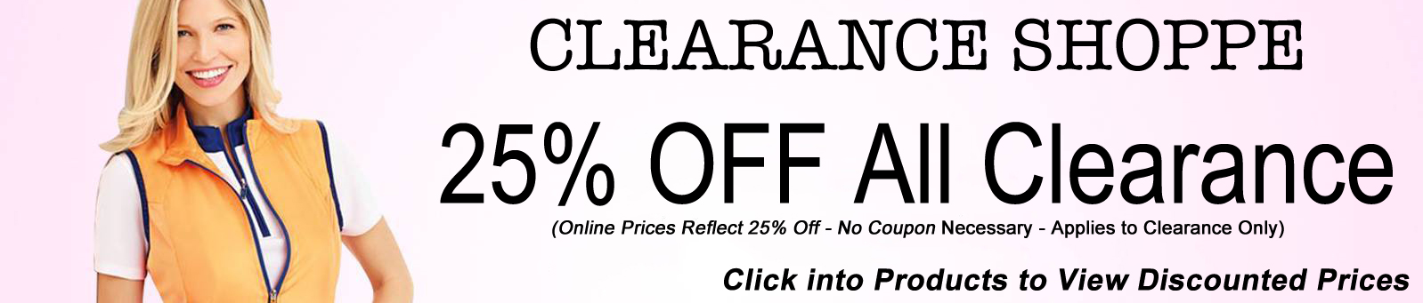 Clearance Shoppe Specials