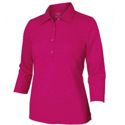 SPECIAL Monterey Club Ladies Animal Emboss 3/4 Sleeve Golf Shirts - Assort.Colors