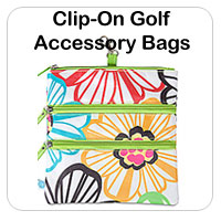 Ladies Clip-On Golf Accessory Bags