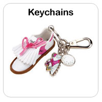 Ladies Golf Key Chains