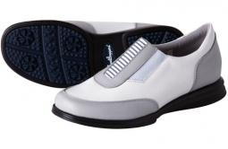 Sandbaggers Ladies Allison Golf Shoes - Gray & White