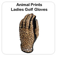 Animal Print Golf Gloves