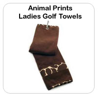Animal Print Golf Towels