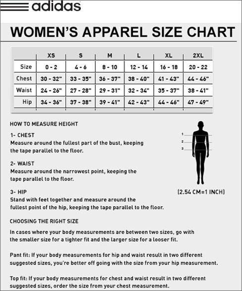 adidas golf polo shirt size chart