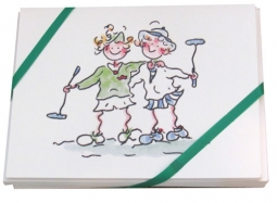 Gal Pals Golf Note Cards (8 Pkg.) - Lady Golf Buddies