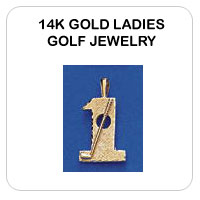 14K Ladies Gold Golf Jewelry