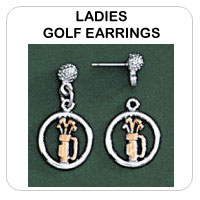 Ladies Golf Earrings Jewelry