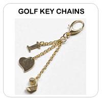 Ladies Golf Key Chains