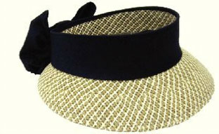 Kate Lord Toyo Ladies Golf Straw Visors with Black Sash and Bow 88c8801e44c