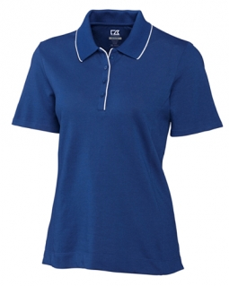 CLEARANCE Cutter & Buck Ladies and Plus Size DryTec Cutter Tipped Golf Shirts - Assorted Colors