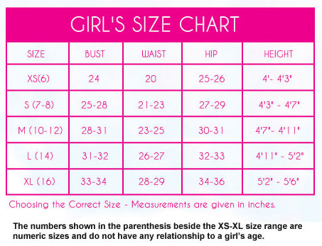 Lucky in Love Size Chart