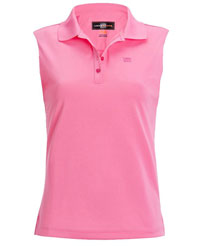 Loudmouth golf ladies plus size essential sleeveless for Plus size sleeveless golf shirts
