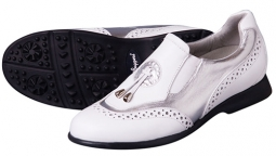 Sandbaggers Madison II Ladies Golf Shoes – White & Silver