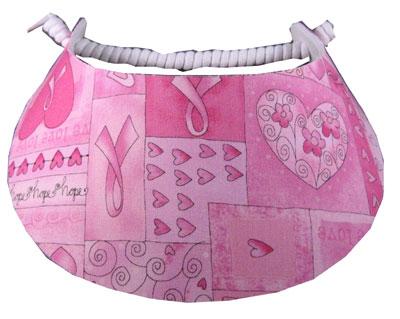 Ladies Pink Golf Visor  197ab84895a