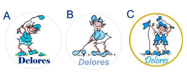 Make Your Mark Golf Gals Visor Clip & Ball Marker - Monogrammed (Asst. Colors/Styles)