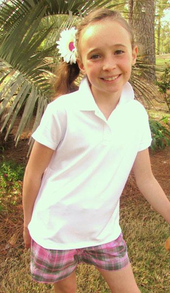 Lori's Golf Shoppe: SALE Nike Junior Girls Victory Golf Polos - White
