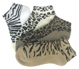On the Tee Animal Prints Ladies Golf Sock Combos - 4 Pkg.