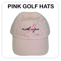 Pink Golf Hats