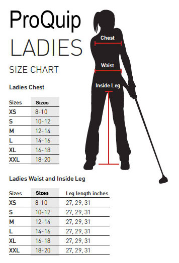 ProQuip Sizing Charts