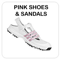 Pink Golf Shoes and Sandals