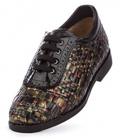 SPECIAL Aerogreen Costa Ladies Golf Shoes - Black Multi/Black-Patent